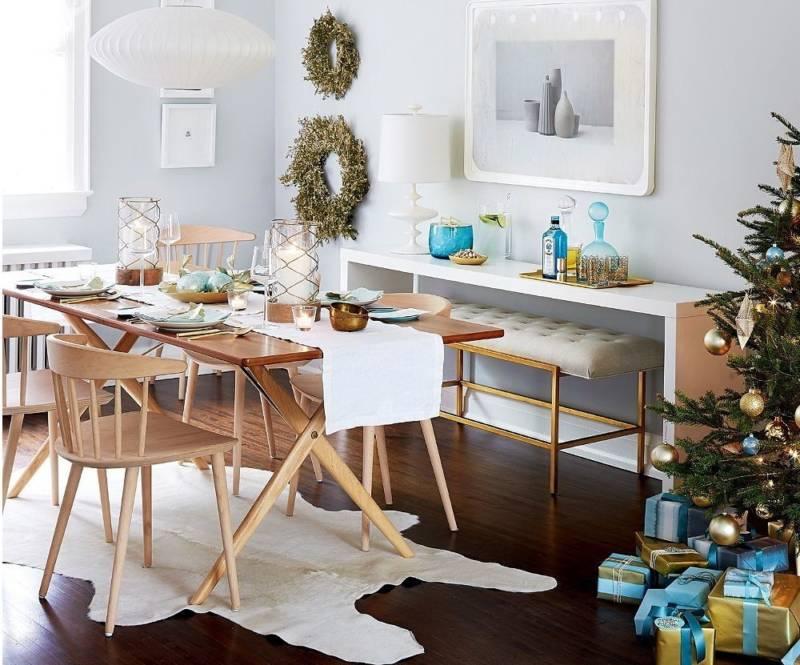 decoracion de la mesa en Navidad