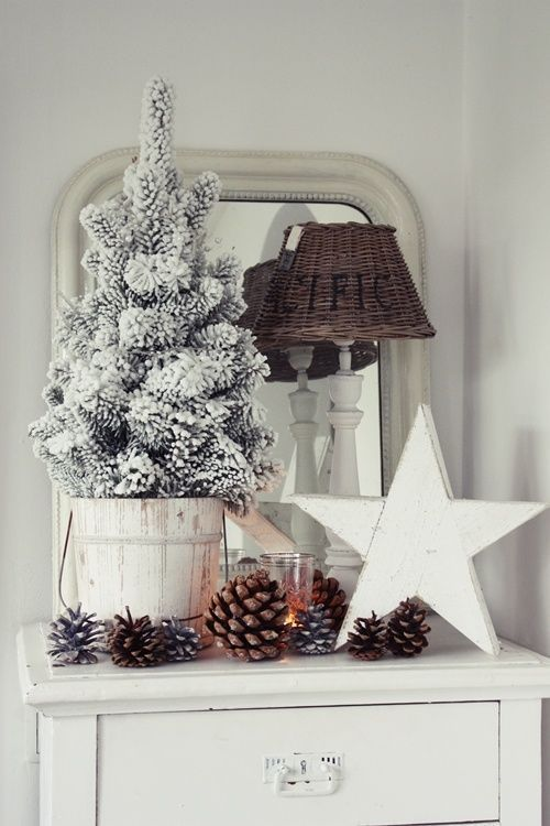 navidad diy piñas secas