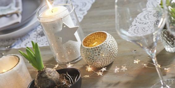 Decorar mesa navidad velas blog fiaka for Velas para decorar mesas