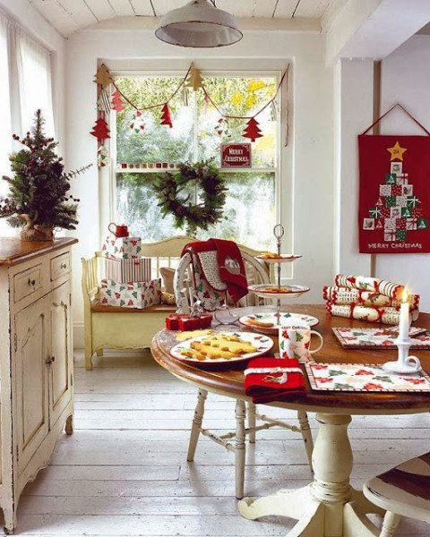 Decorar la Mesa del Comedor Navidad Dinning Christmas Decorations Dining Table