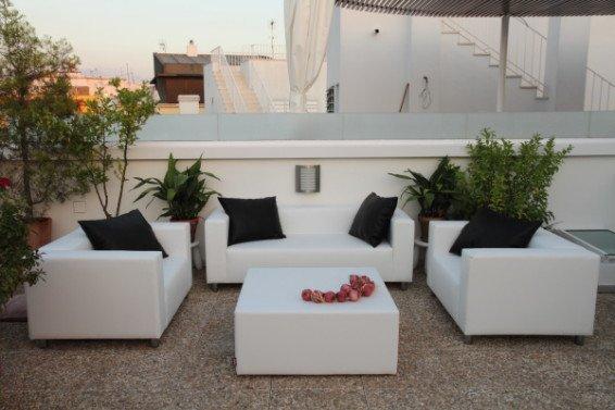 Mobiliario de exterior elegir el tejido for Sofa tela nautica