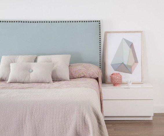 Cabeceros tapizados tendencia en el dormitorio - Dormitorios con cabeceros tapizados ...