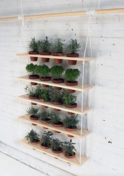 Jardín vertical - vía Pinterest