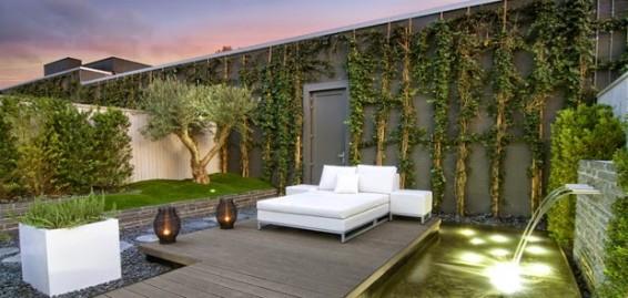 Dise o exterior jard n con piscina for Como decorar un jardin con piscina