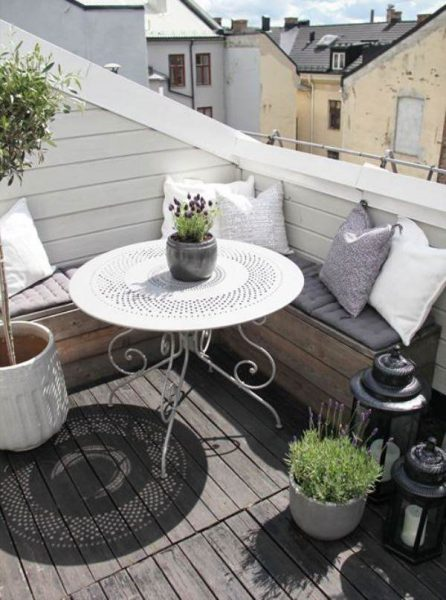 Decoración terraza pequeña - vía Pinterest