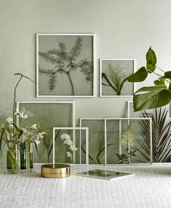 Cuadros decorativos con hojas