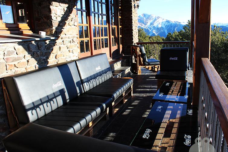 Terraza mobiliario palet