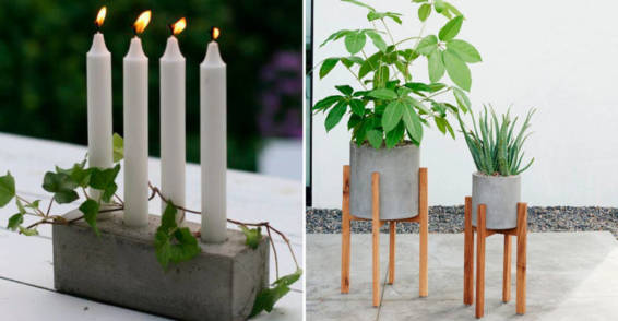 Elementos decorativos de cemento