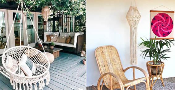 Decoración con macramé para terrazas y jardines