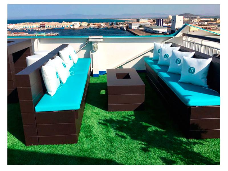 Zona Lounge con Textil Personalizado