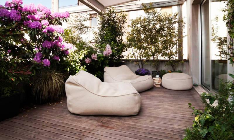 Tumbonas de Puff para Jardines y Terrazas que te cautivarán