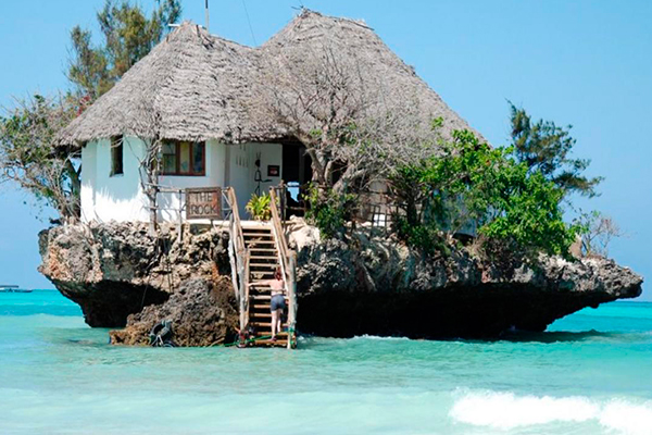 Restaurantes más originales - The Rock Restaurant - Zanzibar