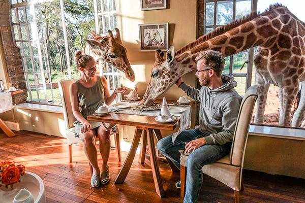 Restaurantes más originales - Giraffe Manor