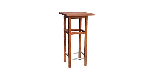 Mesa lacada de madera con respaldo para locales y negocios pequeños