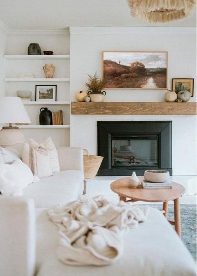 oturma odası karışımı modern ve klasik
