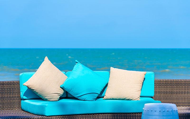 Mobiliario de hostelería para restaurante de playa
