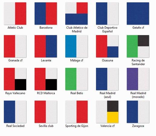 Colores equipos disponibles