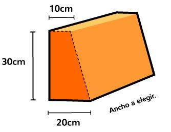Medidas respaldo en forma de cuña para sofá de palés