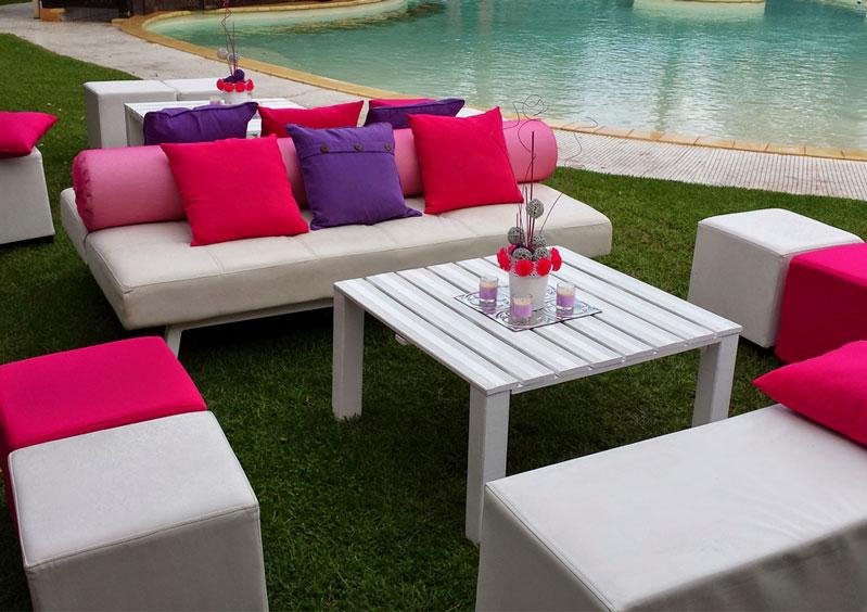El Ceibo, conjunto de sofa, puff y mesa